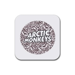 Artic Monkeys Flower Circle Rubber Coaster (square)  by Samandel