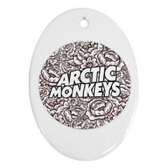 Artic Monkeys Flower Circle Oval Ornament (two Sides)