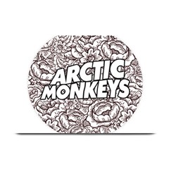 Artic Monkeys Flower Circle Plate Mats