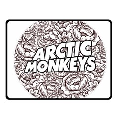 Artic Monkeys Flower Circle Fleece Blanket (small)