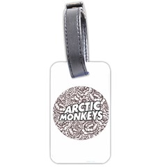 Artic Monkeys Flower Circle Luggage Tags (one Side)