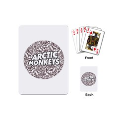 Artic Monkeys Flower Circle Playing Cards (mini)