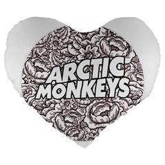Artic Monkeys Flower Circle Large 19  Premium Heart Shape Cushions