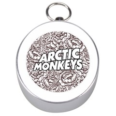 Artic Monkeys Flower Circle Silver Compasses