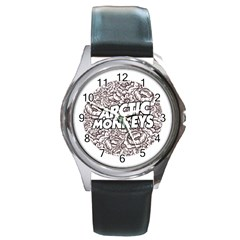 Arctic Monkeys Flower Circle Round Metal Watch