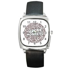 Arctic Monkeys Flower Circle Square Metal Watch