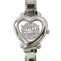 Arctic Monkeys Flower Circle Heart Italian Charm Watch
