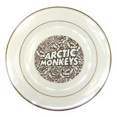 Arctic Monkeys Flower Circle Porcelain Plates