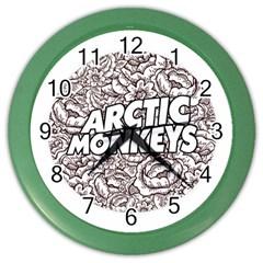 Arctic Monkeys Flower Circle Color Wall Clocks