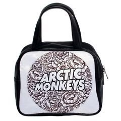 Arctic Monkeys Flower Circle Classic Handbags (2 Sides)