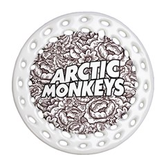 Arctic Monkeys Flower Circle Ornament (round Filigree)