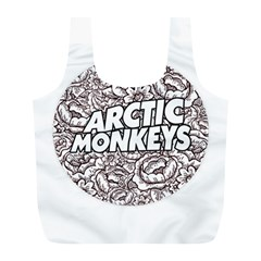 Arctic Monkeys Flower Circle Full Print Recycle Bags (l)