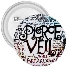 Pierce The Veil Galaxy 3  Buttons