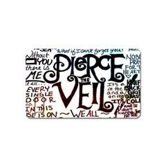 Pierce The Veil Galaxy Magnet (name Card) by Samandel