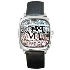 Pierce The Veil Galaxy Square Metal Watch by Samandel