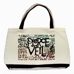 Pierce The Veil Galaxy Basic Tote Bag by Samandel