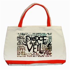 Pierce The Veil Galaxy Classic Tote Bag (red) by Samandel