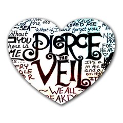 Pierce The Veil Galaxy Heart Mousepads