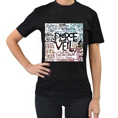 Pierce The Veil Galaxy Women s T Shirt (black)