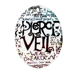 Pierce The Veil Galaxy Oval Filigree Ornament (two Sides)