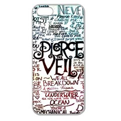 Pierce The Veil Galaxy Apple Seamless Iphone 5 Case (clear) by Samandel