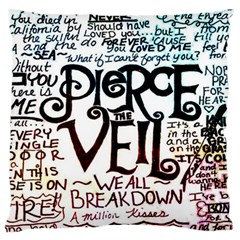Pierce The Veil Galaxy Standard Flano Cushion Case (two Sides) by Samandel