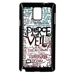 Pierce The Veil Galaxy Samsung Galaxy Note 4 Case (black) by Samandel