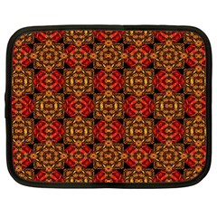 Colorful Ornate Pattern Design Netbook Case (xl)  by dflcprints
