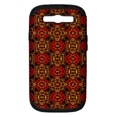 Colorful Ornate Pattern Design Samsung Galaxy S Iii Hardshell Case (pc+silicone) by dflcprints