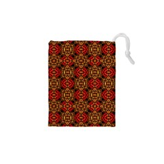 Colorful Ornate Pattern Design Drawstring Pouches (xs)  by dflcprints