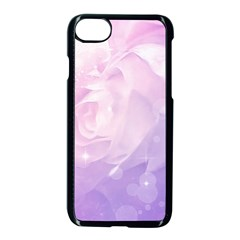 Beautiful Rose, Soft Violet Colors Apple Iphone 8 Seamless Case (black) by FantasyWorld7