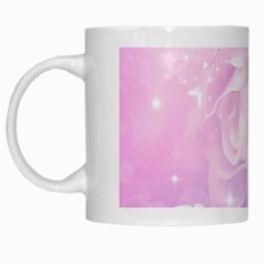 Beautiful Rose, Soft Violet Colors White Mugs by FantasyWorld7