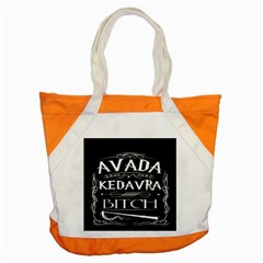 Avada Kedavra Bitch Accent Tote Bag