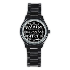 Avada Kedavra Bitch Stainless Steel Round Watch