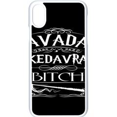 Avada Kedavra Bitch Apple Iphone X Seamless Case (white)