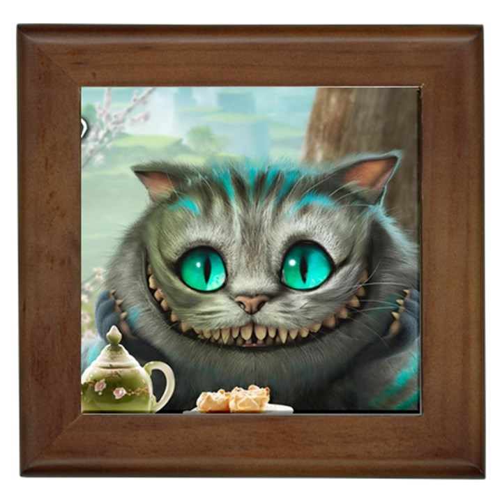 Cheshire Cat Framed Tiles