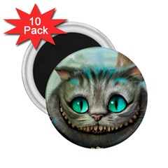 Cheshire Cat 2 25  Magnets (10 Pack)  by Samandel