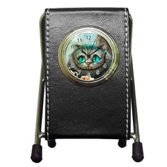 Cheshire Cat Pen Holder Desk Clocks