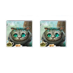 Cheshire Cat Cufflinks (square) by Samandel