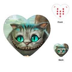 Cheshire Cat Playing Cards (heart)