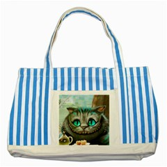 Cheshire Cat Striped Blue Tote Bag