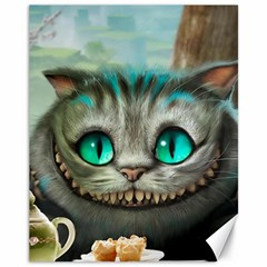 Cheshire Cat Canvas 11  X 14