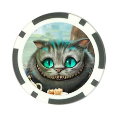 Cheshire Cat Poker Chip Card Guard