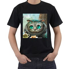 Cheshire Cat Men s T Shirt (black)
