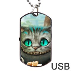 Cheshire Cat Dog Tag Usb Flash (two Sides)