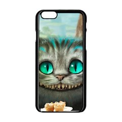 Cheshire Cat Apple Iphone 6/6s Black Enamel Case by Samandel