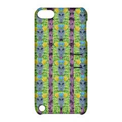 Decorative Summer Girls With Flower Hair Apple Ipod Touch 5 Hardshell Case With Stand by pepitasart