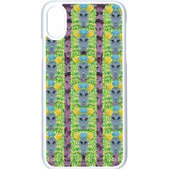 Decorative Summer Girls With Flower Hair Apple Iphone X Seamless Case (white) by pepitasart