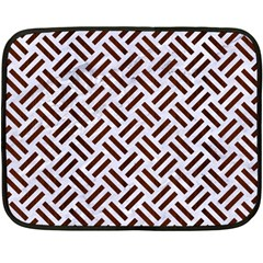 Woven2 White Marble & Reddish Brown Wood (r) Double Sided Fleece Blanket (mini)  by trendistuff