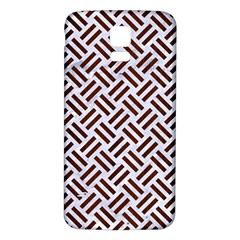 Woven2 White Marble & Reddish Brown Wood (r) Samsung Galaxy S5 Back Case (white) by trendistuff